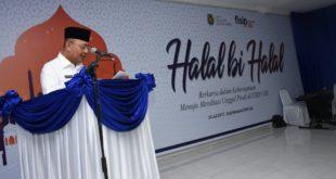 Walikota Medan, Drs. H. T. Dzulmi Eldin S, MSi menyampaikan kata sambutannya di Gedung Aula Serbaguna FISIP USU, Senin (24/7)