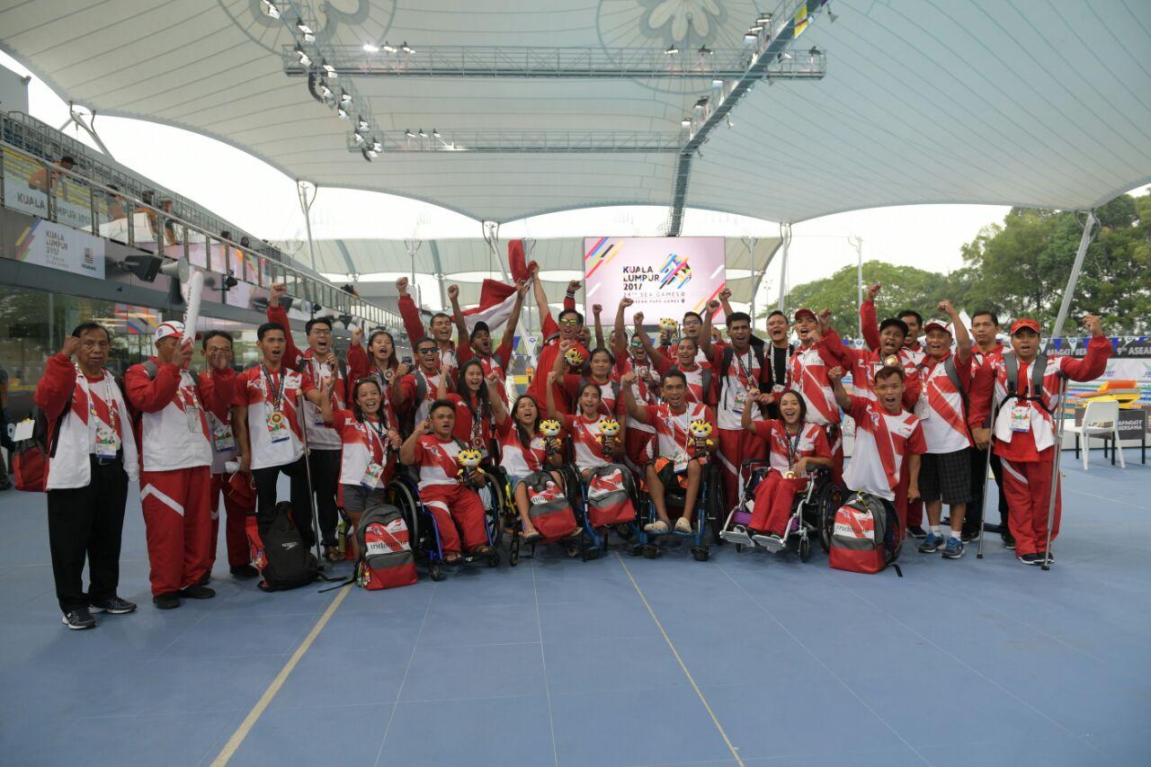 Kontingen Indonesia yang berlaga di ASEAN Para Games 2017
