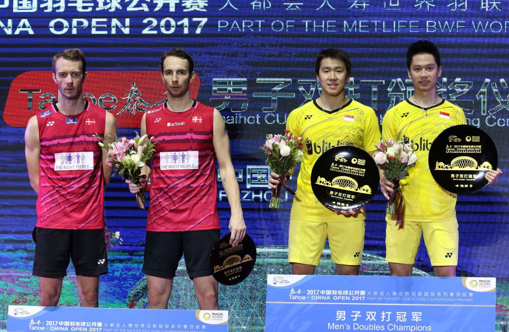 Minions di Podium Juara Tahoe China Open 2017. ( Sumber gambar : Google.com )