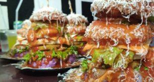 Burger Menjulang Tinggi Bak Menara