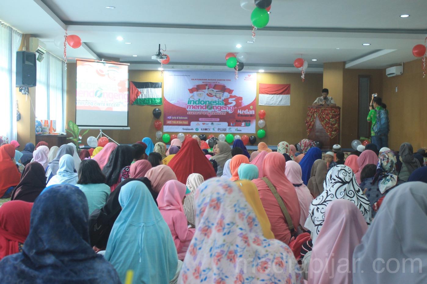 Suasana Kegiatan Indonesia Mendongeng yang berlangsung di Aula FMIPA pada Senin,(25/12). (Fotografer: Lucky Andriansyah)
