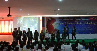 Sosialisasi yang dilakukan oleh Mahasiswa/I Universitas Sumatera Utara kepada Siswa-siswi di SMA Santa Maria Pekanbaru. (30/01)