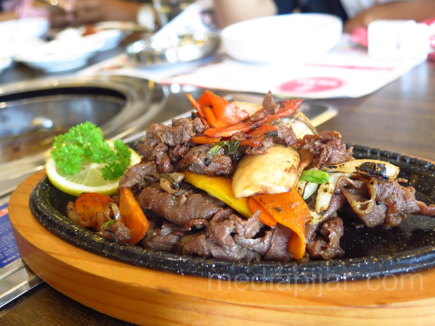 Salah satu menu makanan dari Daebak Cafe (Fotografer: Frans Dicky)