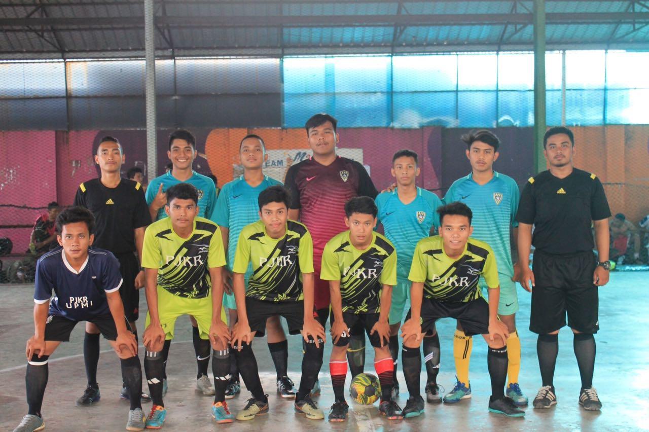 Para peserta lomba futsal dalam acara Porseni IMDIAN 2018. (Sumber foto: Panitia Acara)