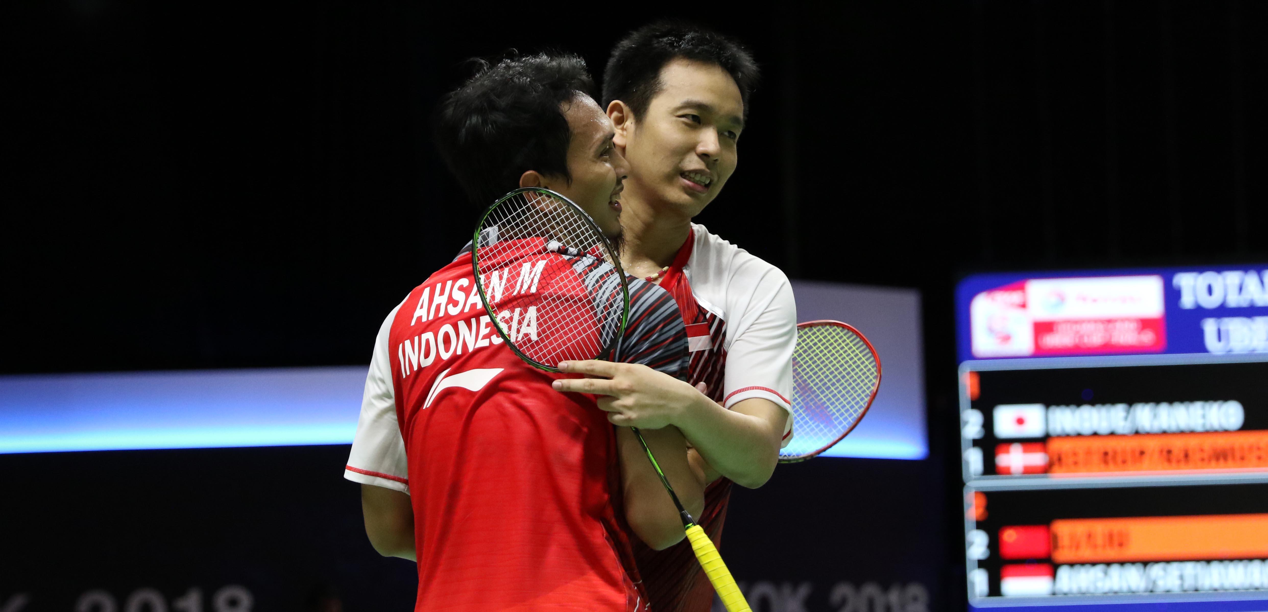 Ahsan/Hendra saat berlaga di Partai keempat (Sumber: PBSI / http://m.badmintonindonesia.org)