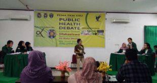 Suasana Public Health Debate dalam Rangka memperingati Hari Tanpa Tembakau Sedunia oleh PEMA FKM USU di Aula LPPM USU yang di hadiri oleh Rumpun Kesehatan se-kota Medan 05/06). (Fotografer: Hermita Uli)