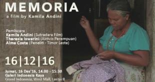 Kisah Pilu Perempuan Timor Leste di Balik Film Memoria