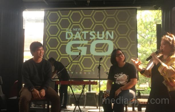 Penyampaian materi mengenai beberapa langkah untuk membuat Vlog serta bagaimana cara membangun brand image oleh Eka dalanta. (11/11)  (Fotografer: Citra Relitna)