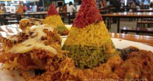 Kreasi Unik Nasi Pelangi, Hasil Mahasiswi Kota Medan