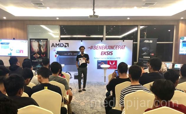 Acara #BeneranCepatEksis oleh AMD di Hotel Radisson pada kamis (8/11) (Fotografer: Frans Dicky Naibaho)