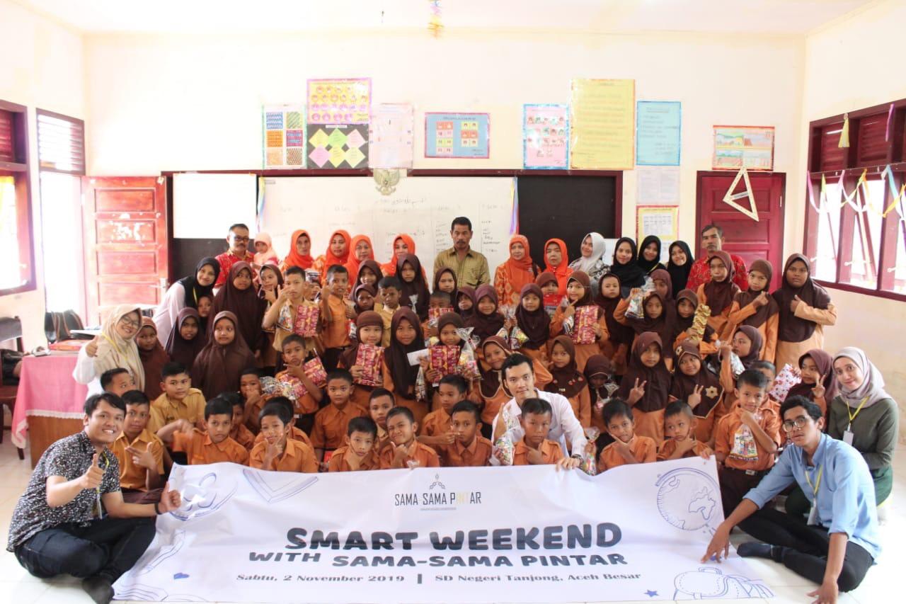 Dokumentasi kegiatan Smart Weekend tahun 2019 oleh Sama Sama Pintar. Sumber Foto: Dokumentasi Pribadi