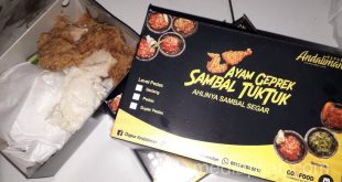 Nikmatnya Sambal Tuk-tuk dalam Sajian Ayam Geprek