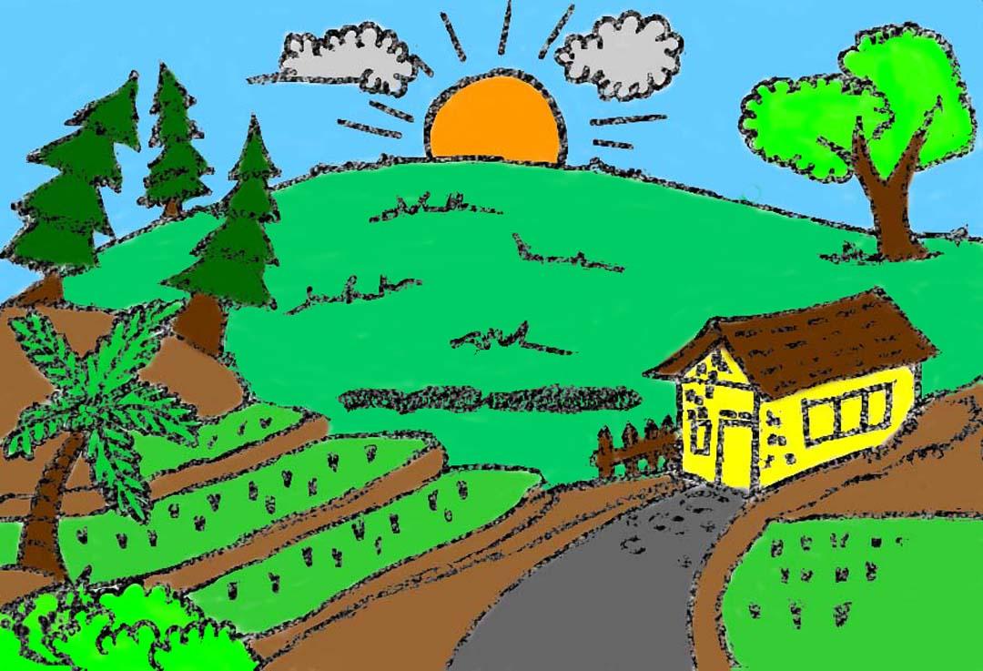 Permainya alam desaku Illustrator: Samuel Agustinus Sinurat